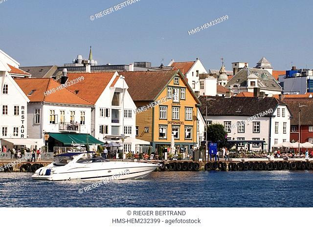 Norway, Rogaland County, Stavanger, the old harbour Vagen