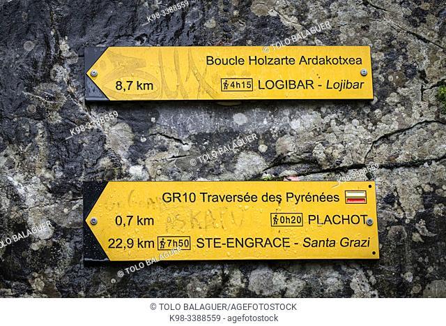 Gorges of Holzarté, Larrau, Aquitaine region, department of Pyrénées-Atlantiques, France