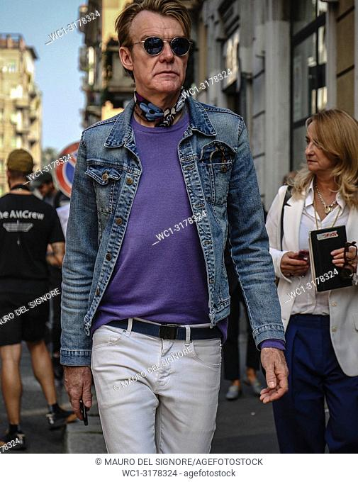 MILAN, Italy- September 19 2018: Ken Downing on the street during the Milan Fashion Week