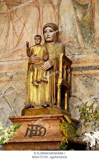 Thronende Muttergottes mit Kind: Notre-Dame-le-Brune, 2 Hlfte 12 Jahrhundert