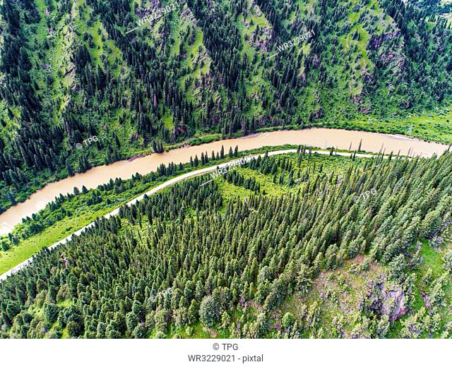aerial photography of Nianlong country;Sichuan Province;China