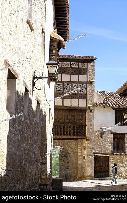 the Nuns' portal in the Convent of the Agustinas nuns. Mirambel. Maestrazgo region. Teruel. Spain