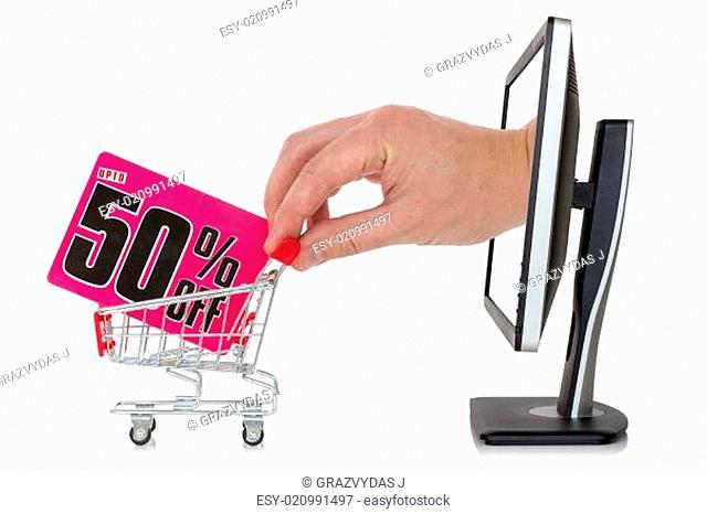 Internet sale concept