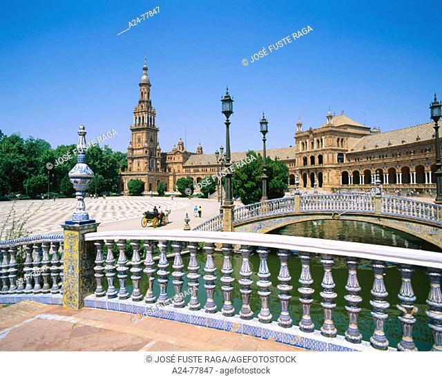 Plaza de España. Seville. Spain