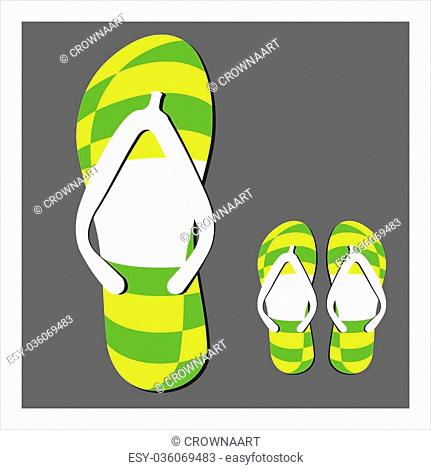 f26277661 Striped shadow shoe Stock Photos and Images