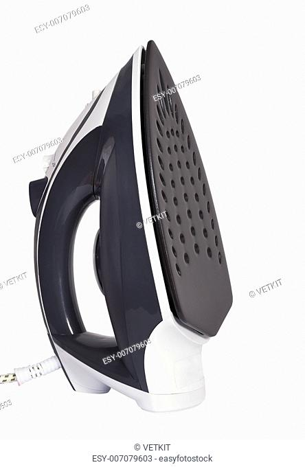 Steam iron on a white background