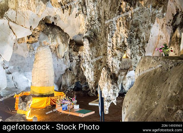 the Muang On Cave and Temple near the city of Chiang Mai at north Thailand.  Thailand, Chiang Mai, November, 2019