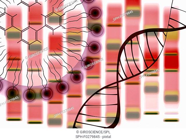 Synthetic biology, conceptual illustration