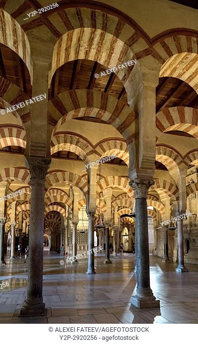 Prayer Hall of Great Mosque of Córdoba, Spain