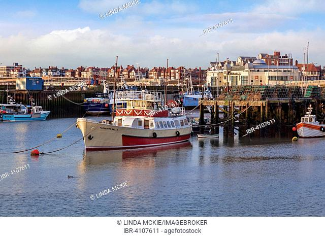 The famous pleasure boat, the Yorkshire Belle, in use since 1947, Bridlington, East Yorkshire, England, United Kingdom