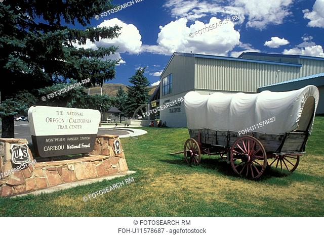ID, Idaho, Montpelier, The National Oregon/California Trail Center, covered wagon