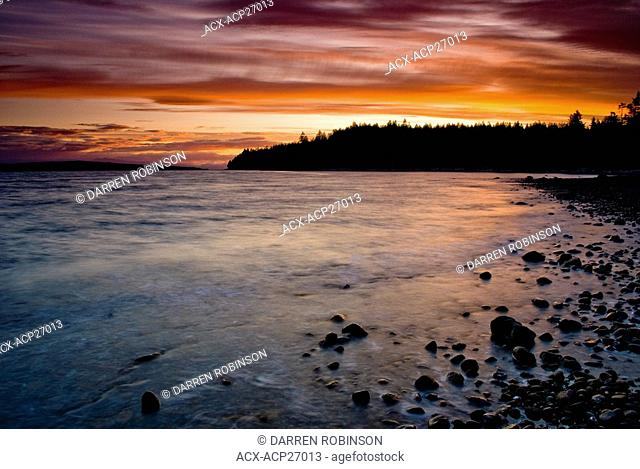 Myrtle Point at sunset near Powell River, British Columbia, Canada