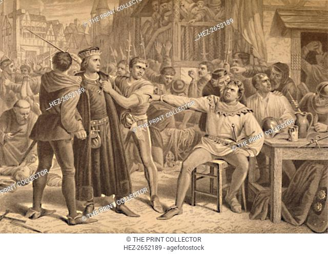'Lord Saye and Sele Brought Before Jack Cade', 1886. Jack Cade (d1450) was leader of the Kentish Rebellion during the reign of Henry VI
