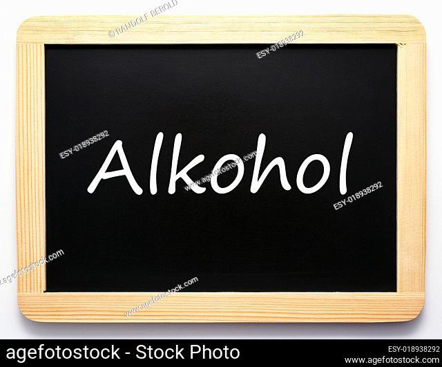 Alkohol - Konzept Tafel