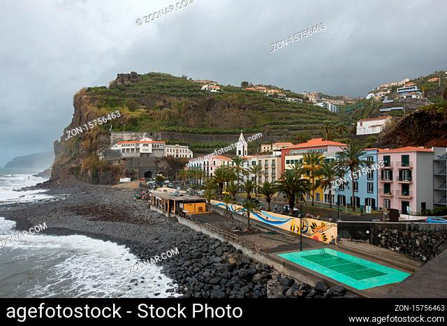 View of Ponta do Sol village in Madeira