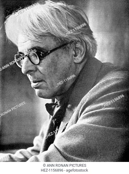 William Butler Yeats, Irish poet and playwright, c1930s. Yeats (1865-1939) in later life. Yeats won the 1923 Nobel Prize in Literature