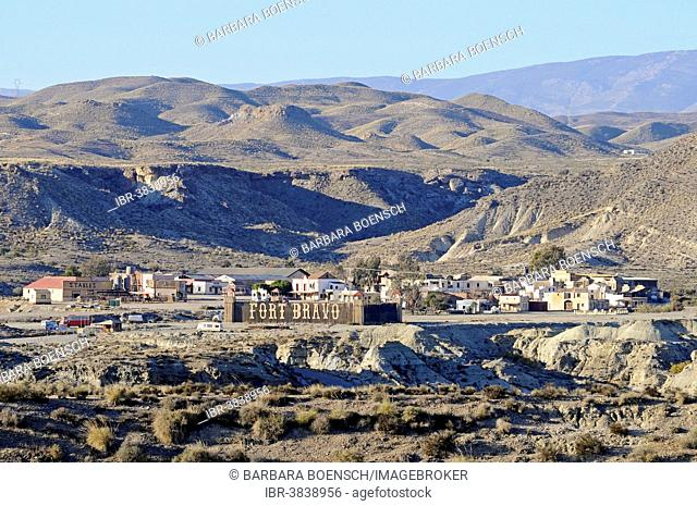 Fort Bravo, Texas Hollywood, western town, Tabernas, Almeria province, Andalusia, Spain