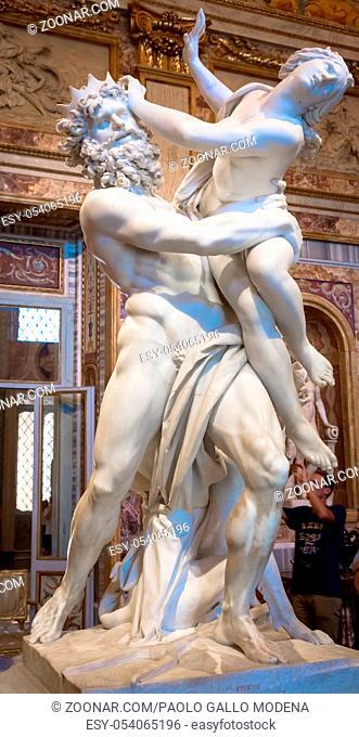 ROME, ITALY - AUGUST 24, 2018: Gian Lorenzo Bernini masterpiece, The Rape of Prosperina, dated 1622