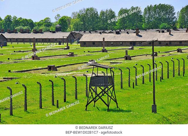 Barracks at Auschwitz-Birkenau concentration camp, Brzezinka, Lesser Poland Voivodeship, Poland