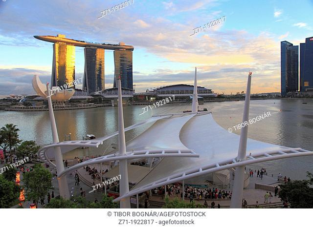 Singapore, Marina Bay, Sands Resort, Marina Promenade