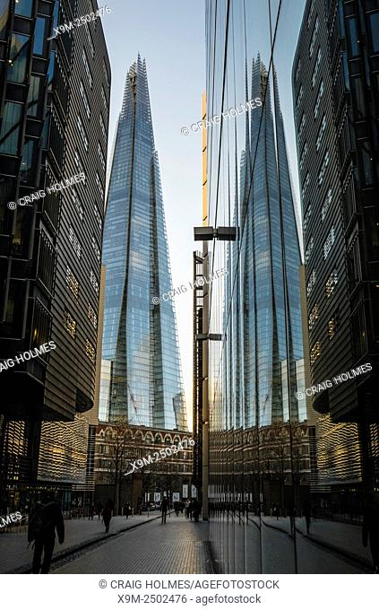 The Shard, also referred to as the Shard of Glass, Shard London Bridge and formerly London Bridge Tower is an 87-storey skyscraper in London that forms part of...