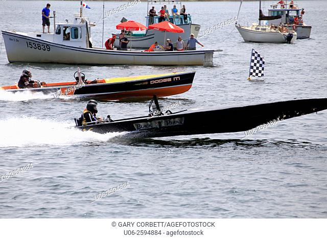 Boat racing in Nova Scotia, Canada