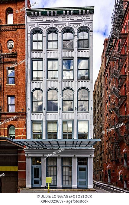 New York City, Manhattan, Tribeca. Looking at Cast Iron Buildings