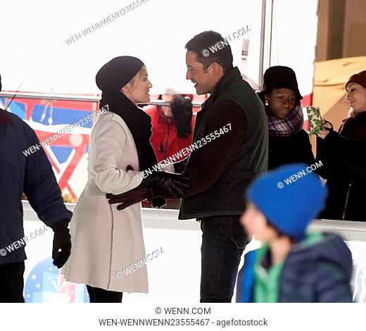 Kate Winslet On Location with Collateral Beauty Featuring: Kate Winslet, Enrique Murciano Where: New York City, New York