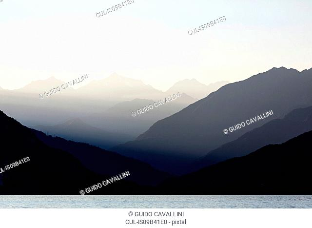 Mountains over Maggiore lake, Verbania, Piedmont, Italy