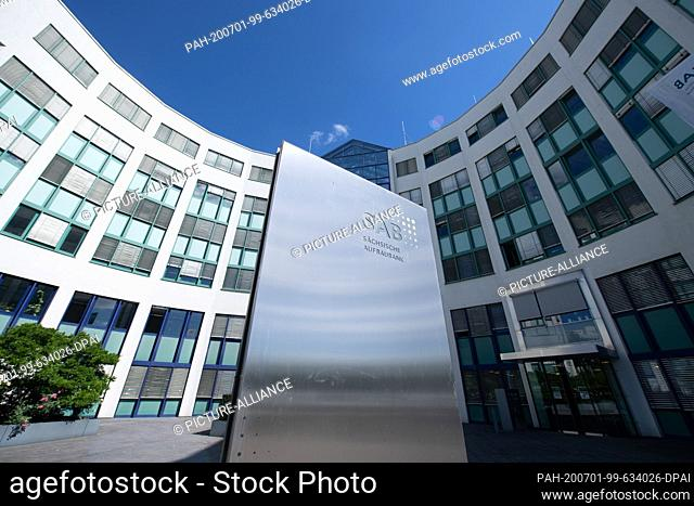 01 July 2020, Saxony, Dresden: The building of the Sächsische Aufbaubank (SAB). At a press conference, the development bank presented its balance sheet for the...
