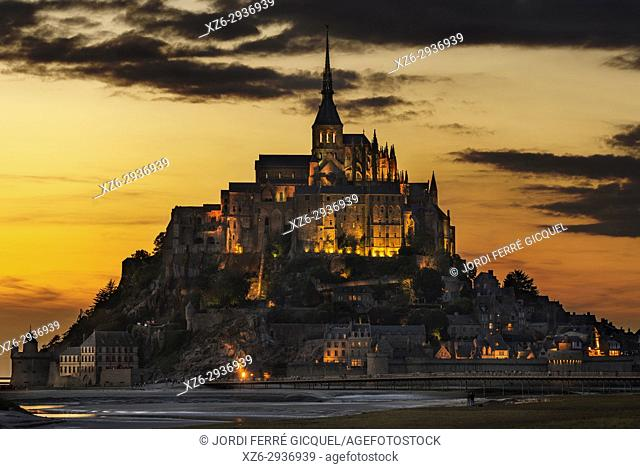 Le Mont-Saint-Michel, La Manche, Normandie, France, Europe