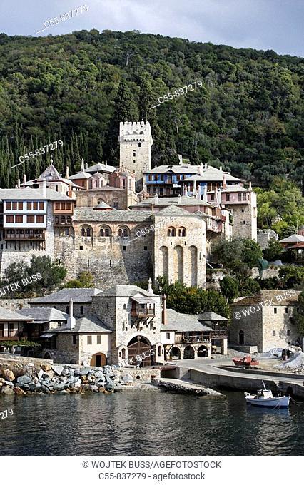 Monastery of Docheiariou, founded between 1030-1032, by the monk Daniel of Docheiariou, Athos Peninsula, Mount Athos, Chalkidiki, Greece