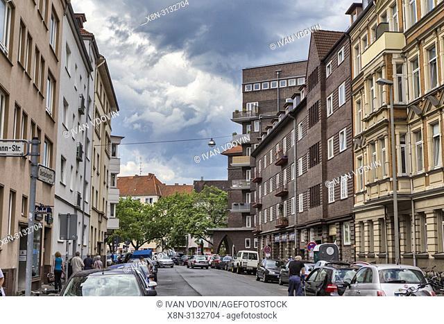 Vintage building, 1920s, Hanover, Lower Saxony, Germany