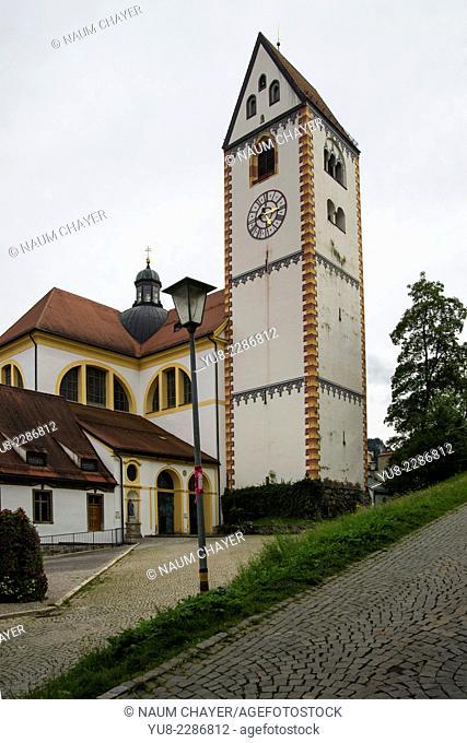 Clock tower, Fussen, Bavaria, Germany, Europe