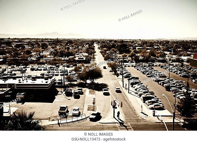 Suburban Landscape, Tucson, Arizona, USA