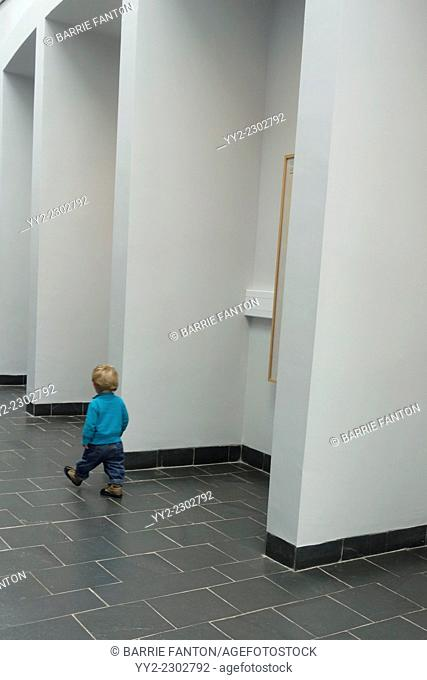 Toddler Walking in Great Blasket Centre, Dingle Peninsula, Ireland, Europe