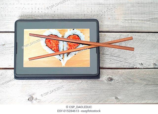 Online sushi food ordering concept