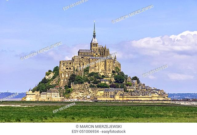 Le Mont Saint Michel - Normandy, France on 31 May 2019
