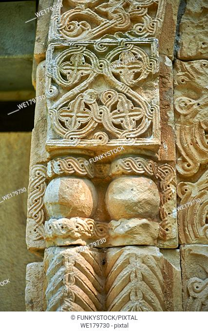 Pictures & Images of the Archangel Georgian Orthodox Church Georgian style exterior relief stone carvings of the south door, 10th - 11th century, Upper Krikhi
