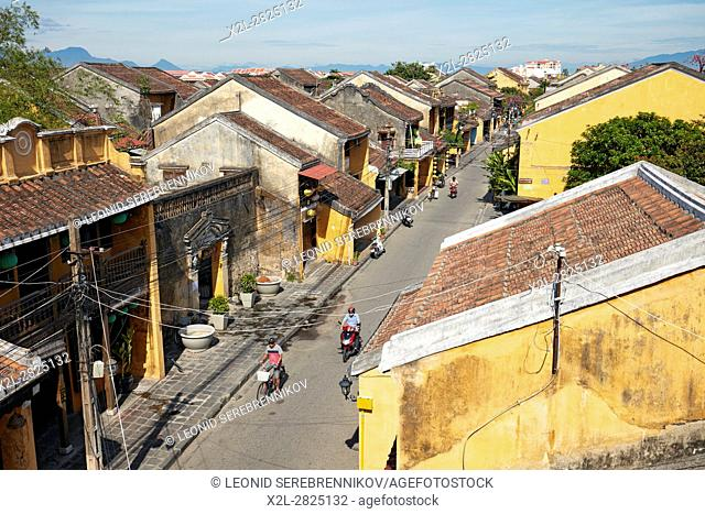 Elevated view of Hoi An Ancient Town. Quang Nam Province, Vietnam