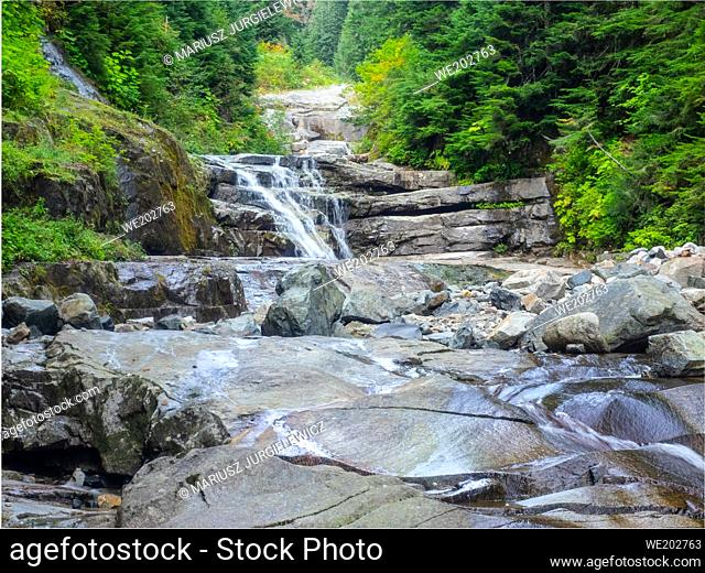 The Denny Creek Trail is extremely popular and for good reason!. A natural waterslide, two good sized waterfalls, lots of old growth forest mixed in with open...