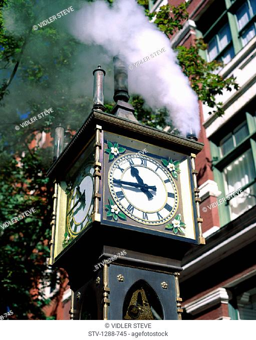 British, British columbia, Canada, North America, Clock, Columbia, Gastown, Holiday, Landmark, Steam, Time, Tourism, Travel, Vac