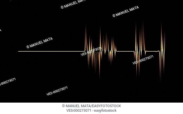 Audio spectrum orange