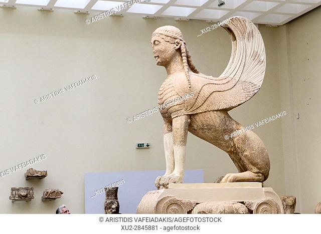 The Naxos Sphinx, Delphi Museum, Greece
