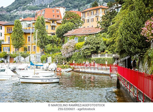 "Passerella """"""""The walk of love"""""""". Varenna is a comune on Lake Como in the Province of Lecco in the Italian region Lombardy"
