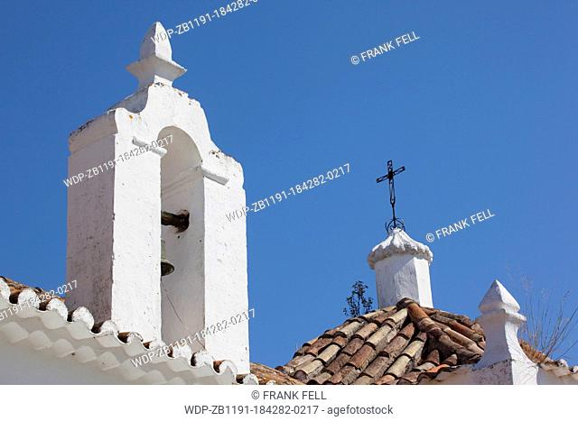 Portugal, Algarve, Alte, Church Rooftop