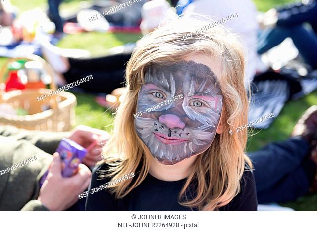 Girl with pained face
