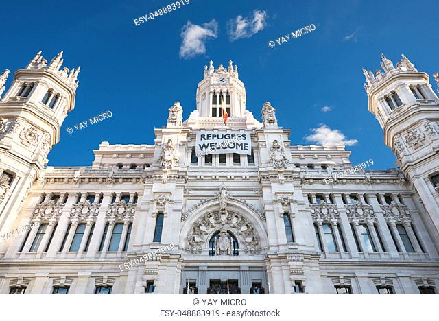 CybeleS Palace City Hall on November 13, 2016 in Madrid, Spain