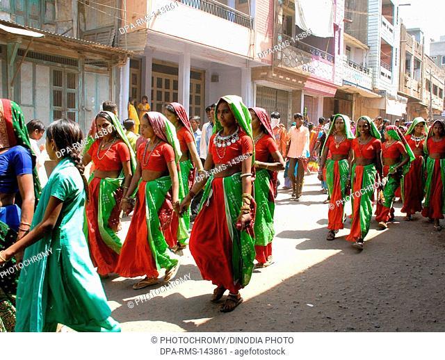 Tribal woman ;  holy festival ; district Vadodara ; Gujarat ; India
