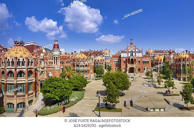 Spain, Catalonia, Barcelona City, Sant Pau Hospital, UNESCO, W. H